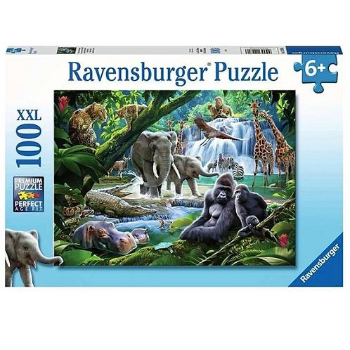 100 Pcs - Ravensburger - Les animaux de la jungle