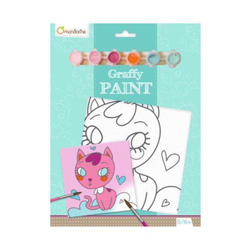 Avenue Mandarine - Graffy Paint - Chat Coeur