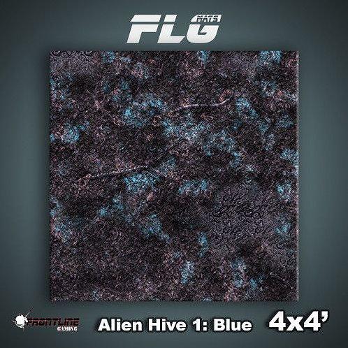 PLAYMAT - FLG Alien Hive Blue 4'x4'
