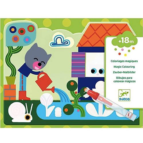 Djeco - Coloriage magique à l'eau - Caché dans le jardin