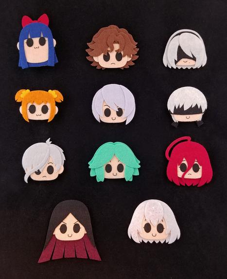Handmade Mini Felt Pins & Magnets