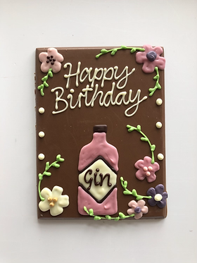 Happy Birthday Gin Bottle