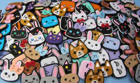 Handmade Felt Pins