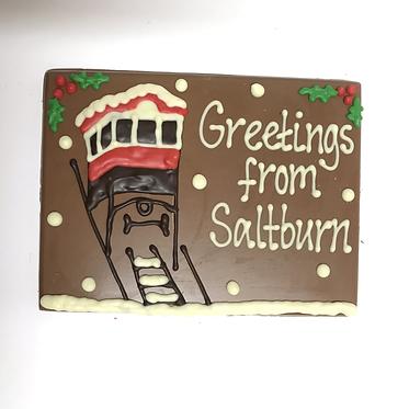 Small Christmas Saltburn Plaque