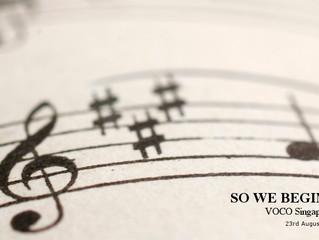"""""""So We Begin... """"- VOCO Singapore"""