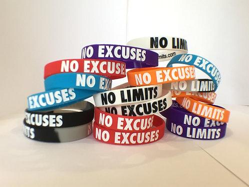 English - No Excuses No Limits Bracelets