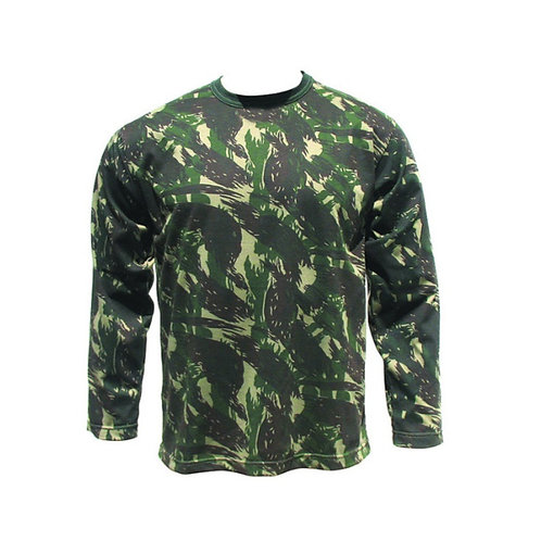 Camiseta Camuflada - Manga Longa