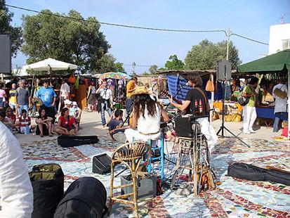 Hippie market in Pilar de la Mola