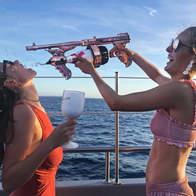 Moet champagne gun at Cirque de la Nuit