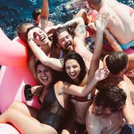 Swim stop at Cirque de la Nuit Ibiza
