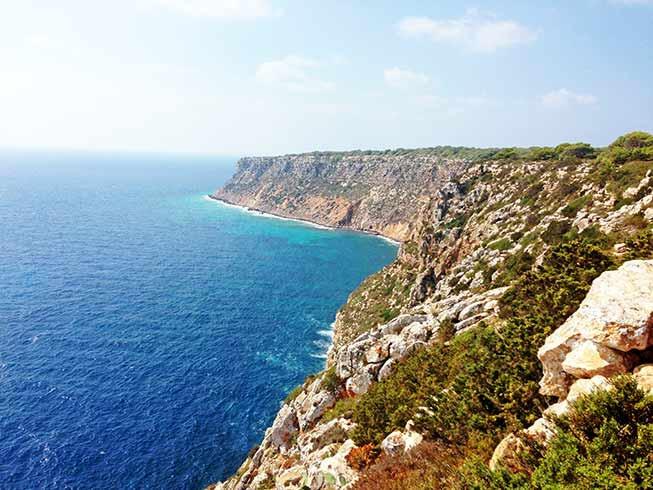 Formentera Pilar de la Mola cliffs