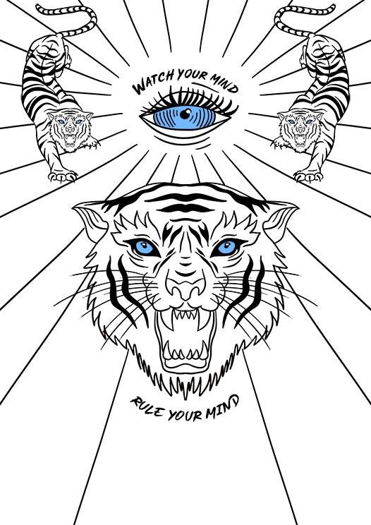 tiger print tshirt neubewusst