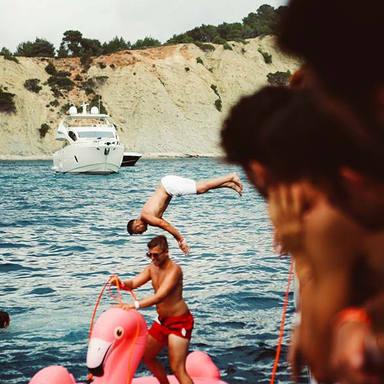 cirque de la nuit ibiza boat party swim