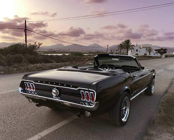 67WOWstang Mustang in Ibiza at Ses salines