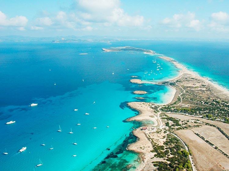 Formentera Island Playa Illetes Drone Shot