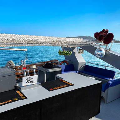 The bar on the Ibiza Boat Club