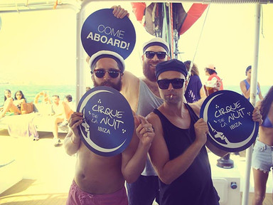 Hosh and Andhim at Ibiza Boat Club Cirque de la Nuit