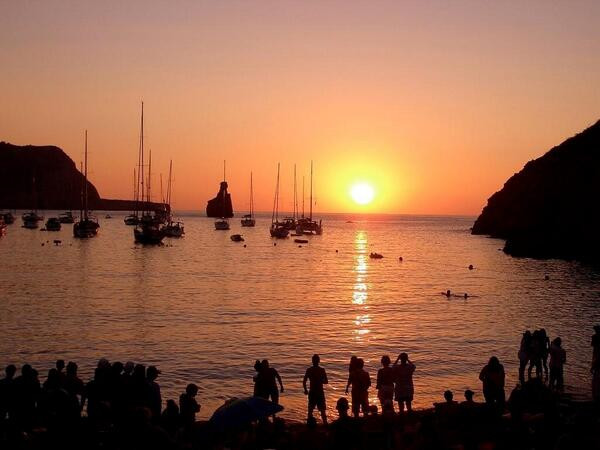 sunset drums at benirras beach ibiza