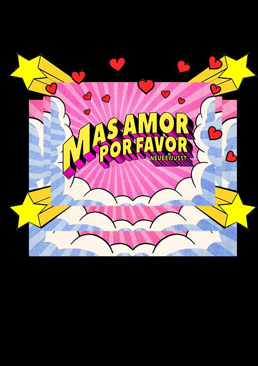 Mas Amor por favor comic popart print