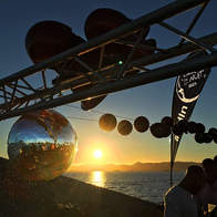 Sunset view on the Ibiza Boat Club