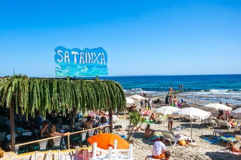 Sa Trinxa Ibiza beach bar at las Salinas