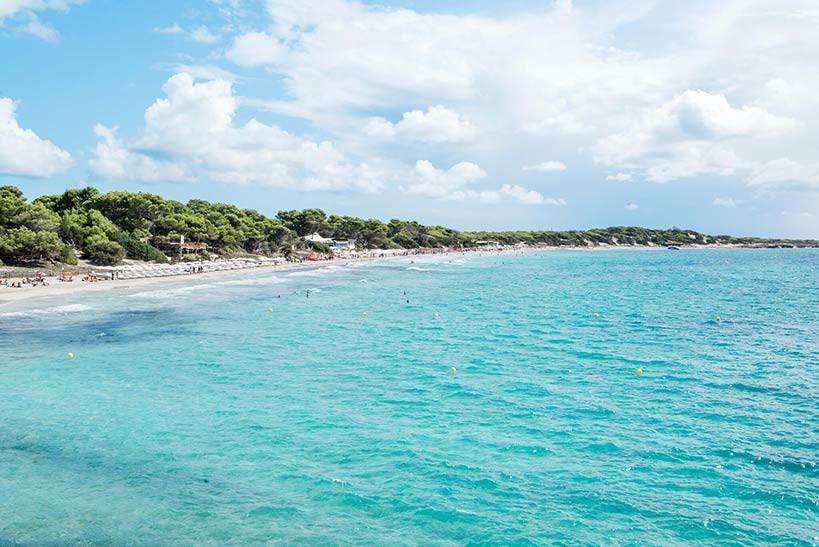 water at las Salinas Ibiza