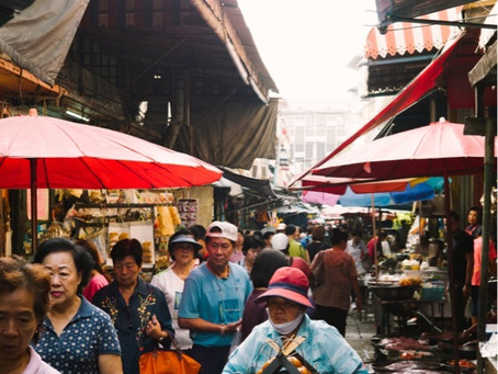 One of the oldest morning fresh markets in Old Bangkok, just a few steps away