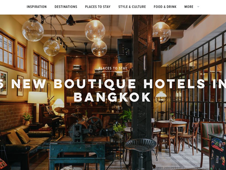 5 New Boutique Hotels in Bangkok by Condé Nast Traveller