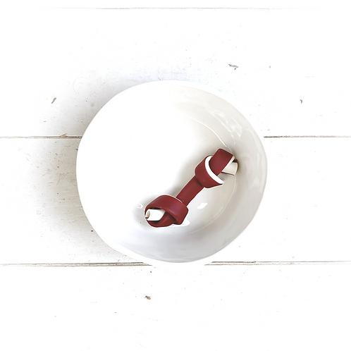 miro & makauri knotted veggie bone red x3