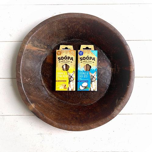 soopa pets banana & coconut dental combo