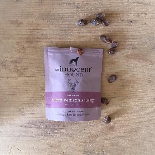 Innocent Hound - sliced venison sausage