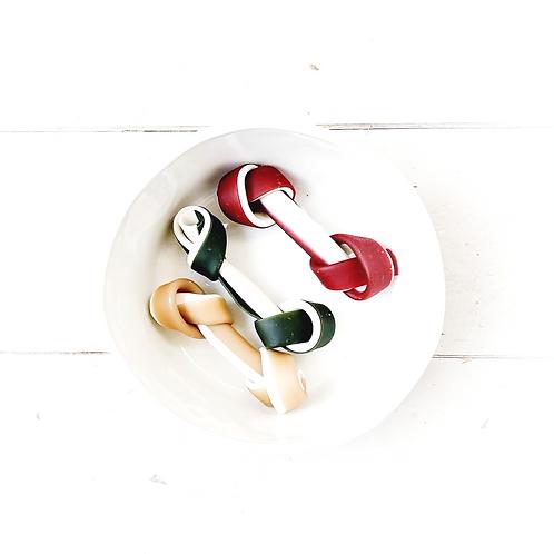 miro & makauri tricolore knotted veggie bone