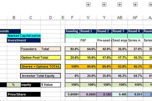 Cap (Capitalization) Table