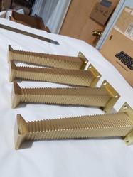 Set of Hand Machined Brass Legs