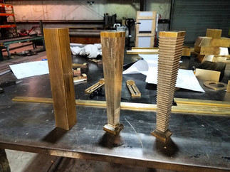 Hand Machined Brass Legs