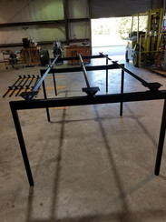 Steel Conference Table Base and Frame