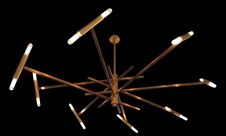 Spirale, Ceiling Fixture, Custom Lighting, Hand Made, America Made, Brass, Lighting, High End Light Fixture, Light Fixture