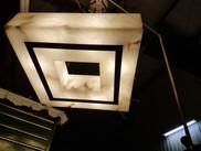 Custom Square Alabaster Pendant