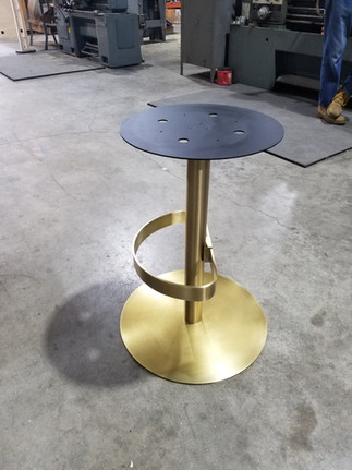 Solid Brass Barstool