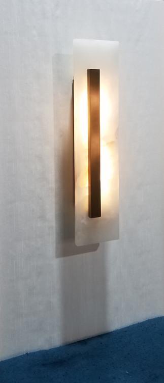 Custom Alabaster Panel Lamp