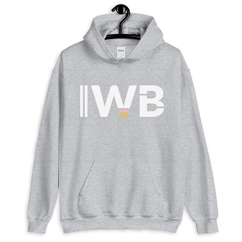 iwannabe White Bold Pullover Hoodie 4e