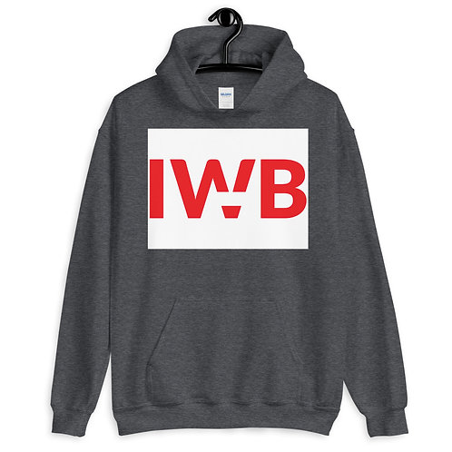 iwannabe White Red Bold Pullover Hoodie 4e