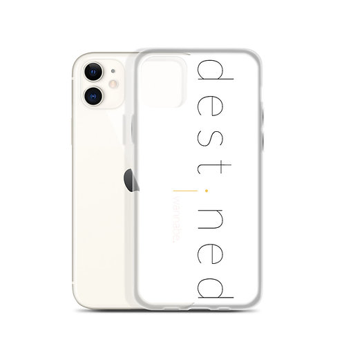 destined White Black iPhone Case 4f