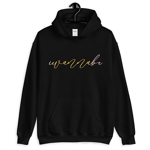 iwannabe Script Multi Pullover Hoodie 4e