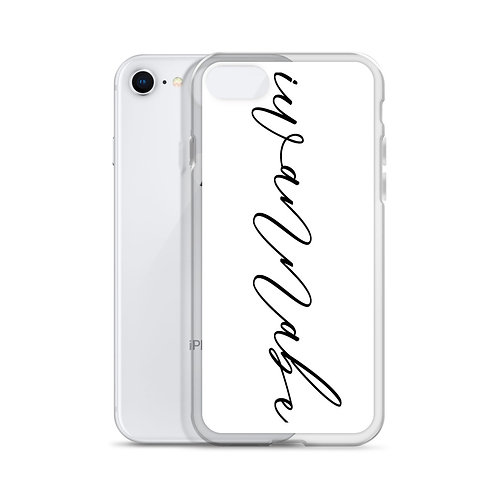 iwannabe Black Script iPhone Case 4f