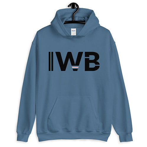 iwannabe Black Pink Bold Pullover Hoodie 4e