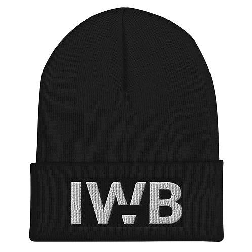 iwannabe Black White Bold Cuffed Beanie 4j