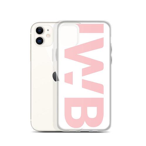 iwannabe White Pink Bold iPhone Case 4f
