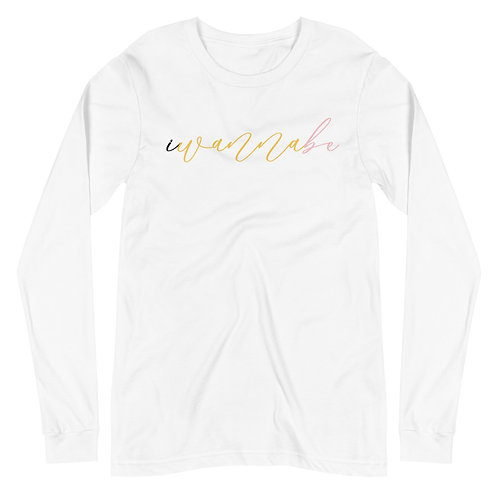 iwannabe script multi Long Sleeve 4d