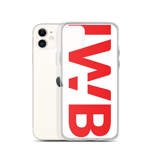 iwannabe White Red Bold iPhone Case 4f